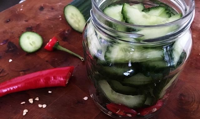 zoetzuur komkommer